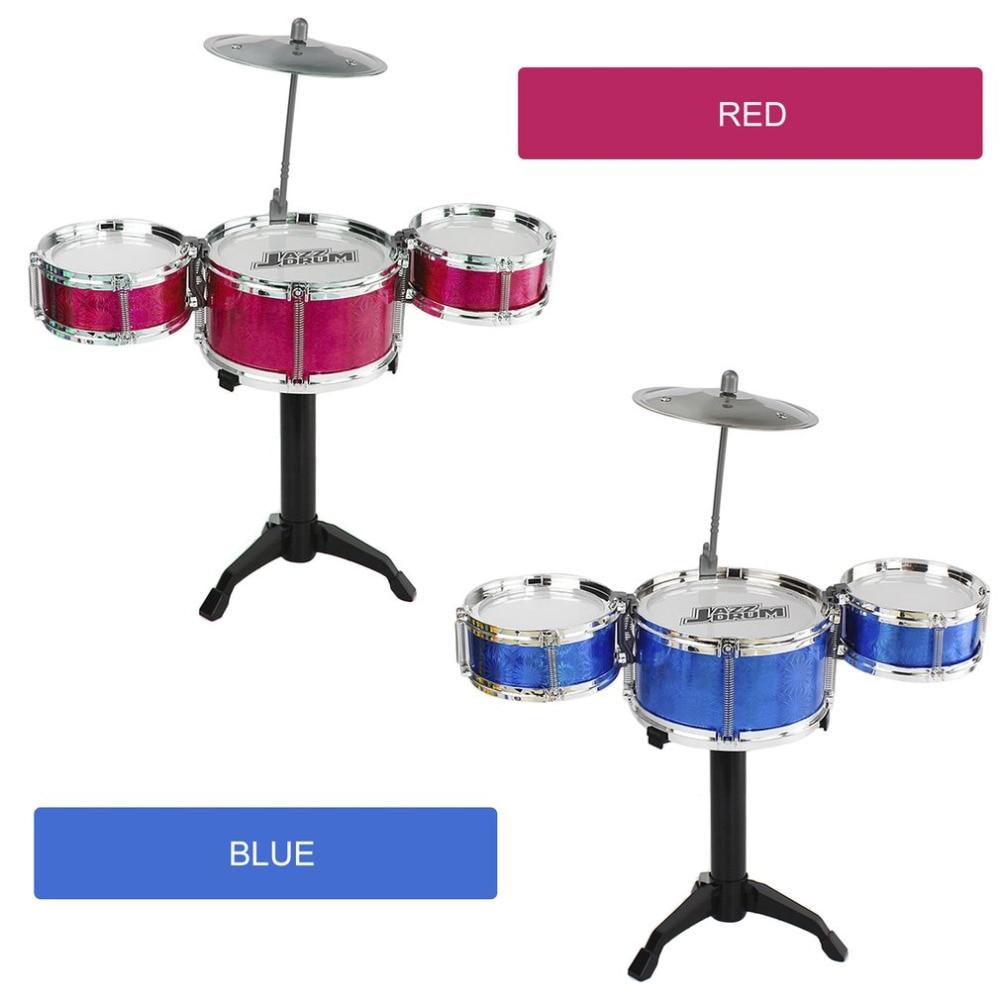Набор детских Барабанов из 3 предметов Комплект младших барабанов Имитационные