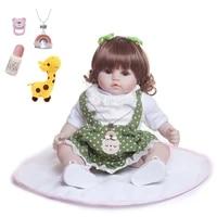 45cm silicone reborn baby doll toys vinyl cloth body princess toddler babies dolls alive birthday gift play house toys bonecas