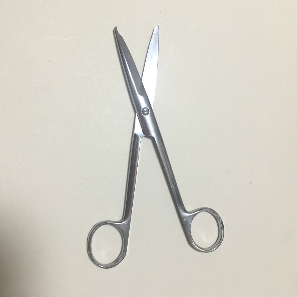 2020 New Stainless Steel Removal Suture Scissors Surgical Scissors Medical Trim Crescent Notch Scissors 14cm high quality surgical stainless steel scissors straight tip scissors curved tip ophthalmic suture scissors tissue scissors