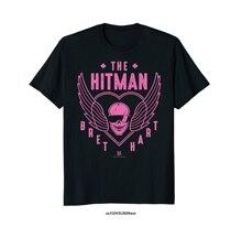 Drôle hommes T-shirt nouveauté T-shirt femmes le tueur à gages Bret Hart 1 couleur crâne T-shirt