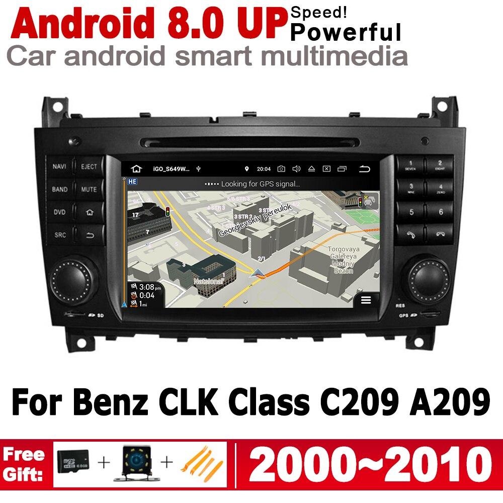Для Mercedes Benz CLK Class C209 A209 2000 ~ 2010 NTG 2 Din Автомобильный мультимедийный плеер Android радио GPS Навигация стерео аудио IPS