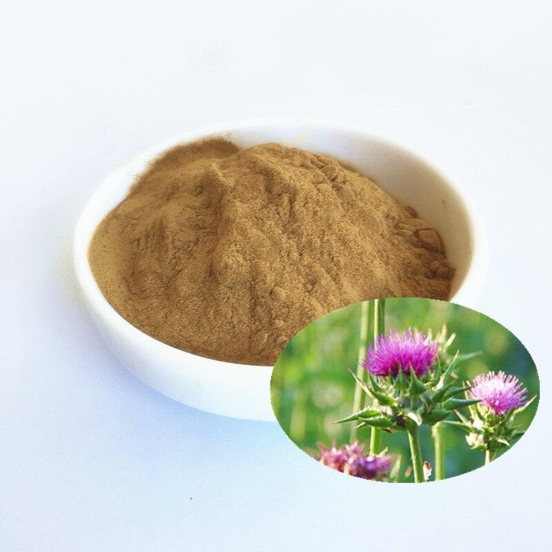 500g de extracto de cardo de leche en polvo con suplemento de Silimarina, Desintoxicación del hígado, función de la vesícula biliar, protección del hígado