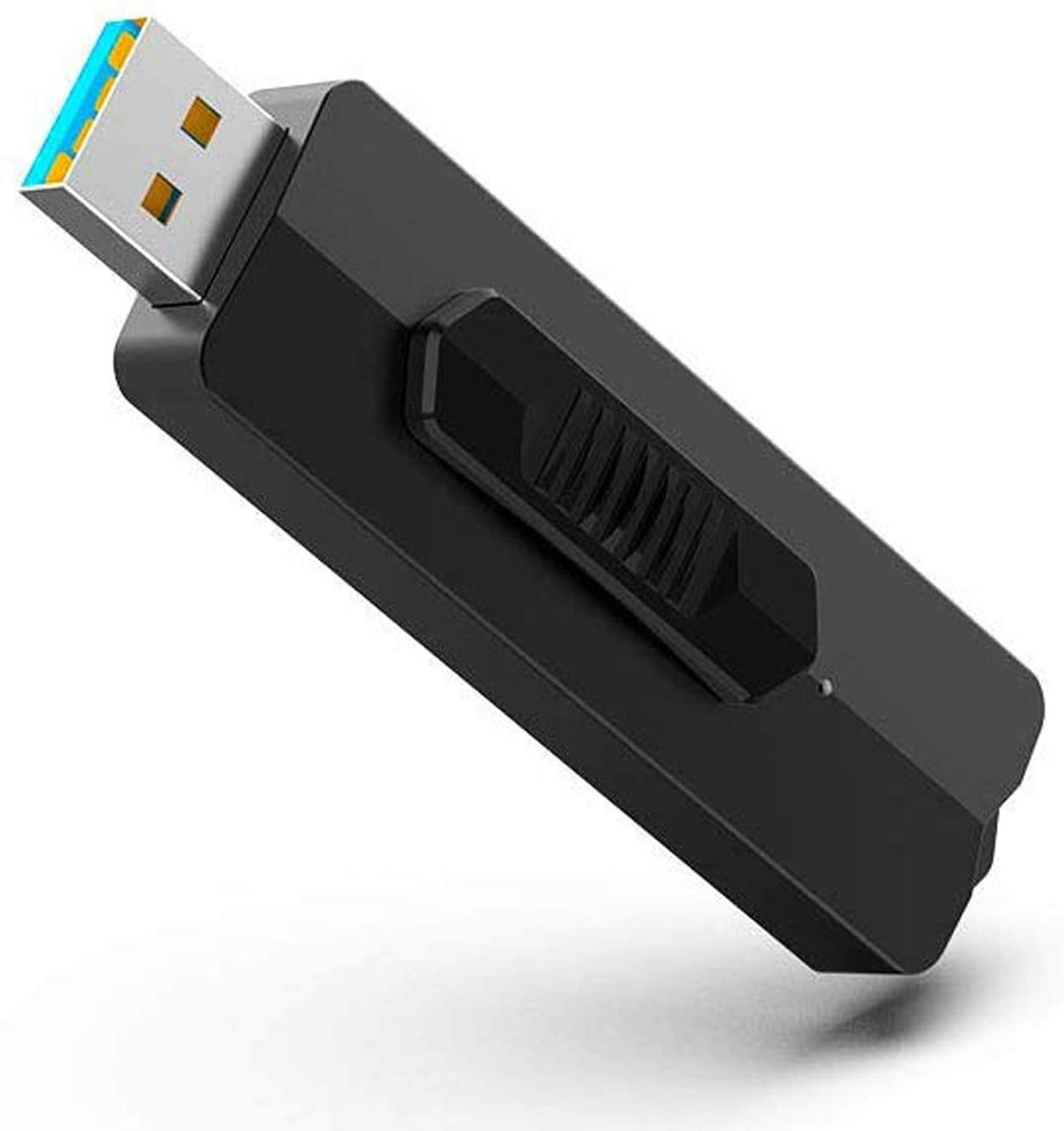 TOPESEL 128 GB Flash Drive 128gb USB 3.1 with Read Speeds up to 370MB/s, USB 3.1 Gen 1 - Black Gray