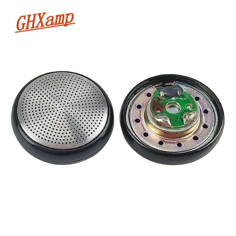 GHXAMP 15.4mm Subwoofer Headphone Original NEW Metal Surface Unit Earphone DIY Accessories 32ohm 2pc