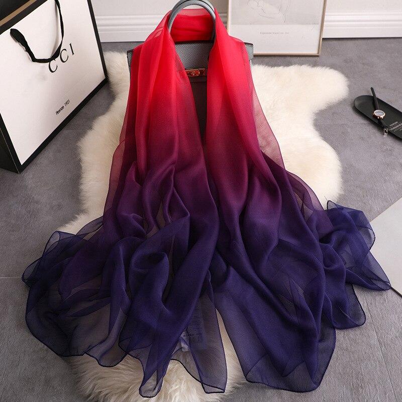 2020 verão lenço de seda para as mulheres xales e envoltórios moda tamanho grande cachecóis pashmina praia stoles foulard lady echarpe hijabs