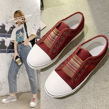 Women's Shoes Spring and Autumn and Summer Women's Flat Canvas Shoes Women's Board Shoes Outdoor Lei