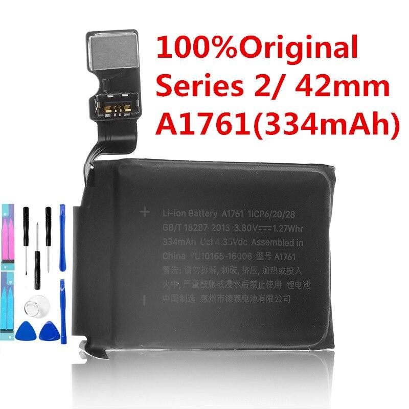 Original A1761 batería Real 334mAh para Apple watch 42mm de la serie 2 a1761 batería