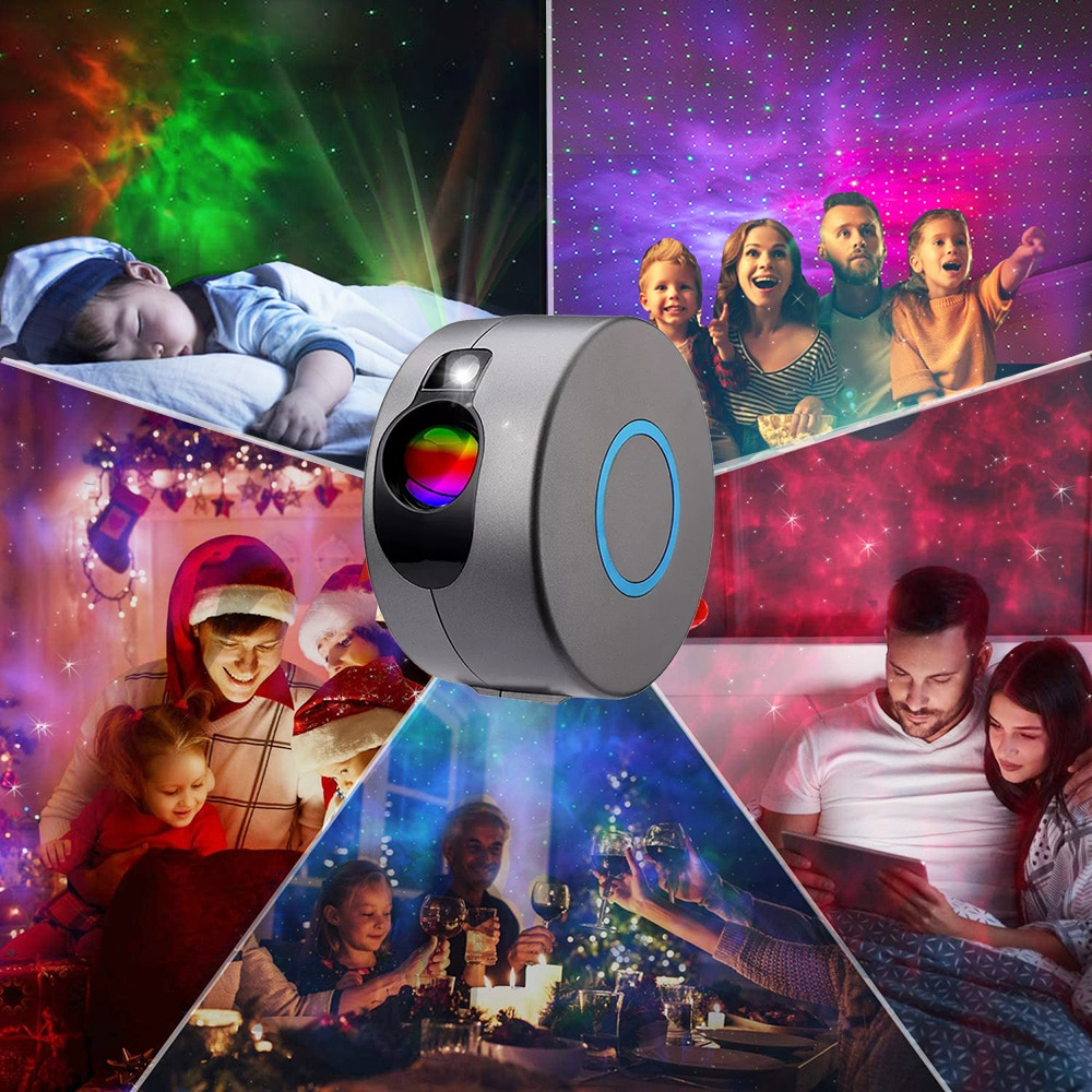 Star Projector Space Sky Led Starlight Starry Night Light Projector Music Nebula Bedroom Decor Christmas Gift Galaxy Projector enlarge