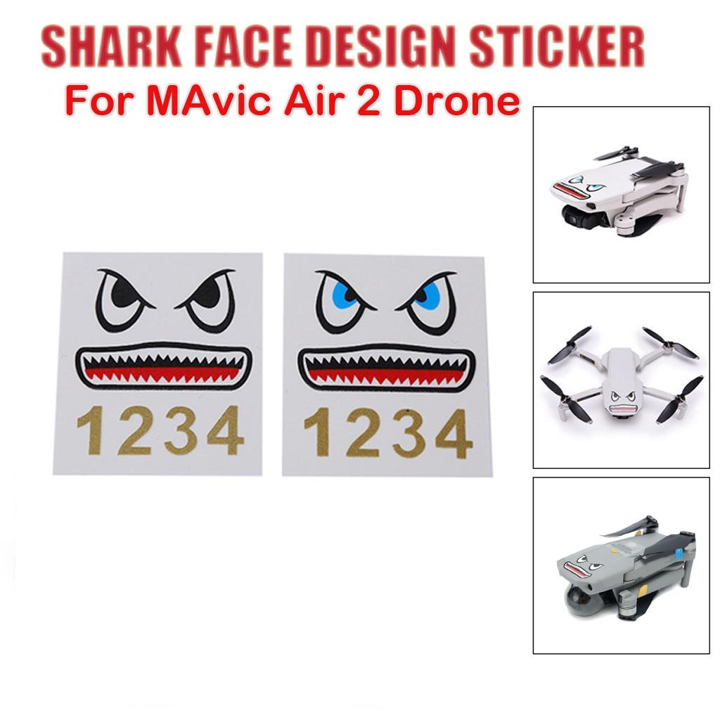 fish Face Design Sticker Decal Skin DIY Accessory For DJI Mavic Air 2 RC Drone Mini Waterproof Protective Decal  Skin игрушки