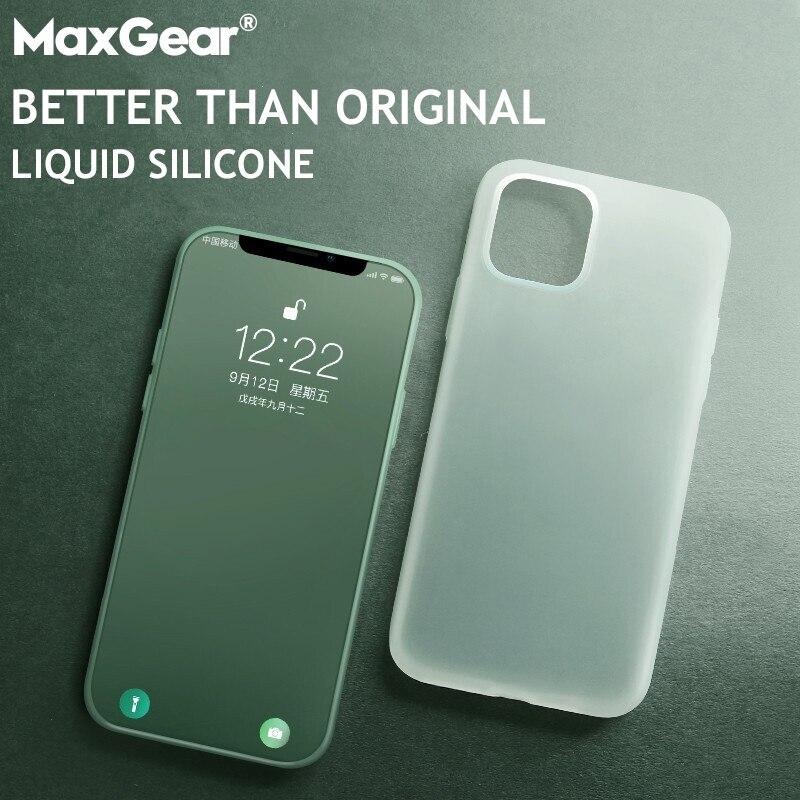 Funda fina transparente de lujo suave para iPhone 11 Pro Max 7 8 6 6S 7 8 Plus X XS MAX XR funda de teléfono de silicona líquida Original transparente