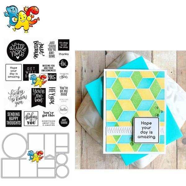 Sellos transparentes claros con letras para álbum de recortes DIY/fabricación de tarjetas/divertidos suministros de decoración navideña para niños