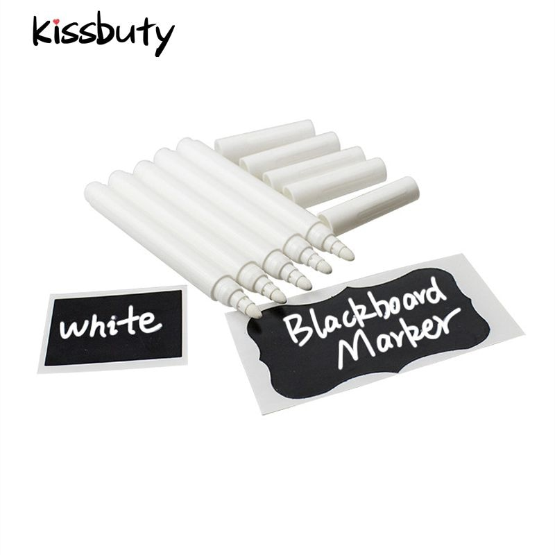 3/5/10/12Pcs/Set White Liquid Chalk Erasable Pen Marker For Glass Windows Electronic Blackboard Chalkboard Window White Pen