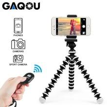 GAQOU Mini Octopus trípode soporte obturador Remoto Portátil Flexible para cámara Gopro Trípodes para teléfono móvil soporte de escritorio plegable