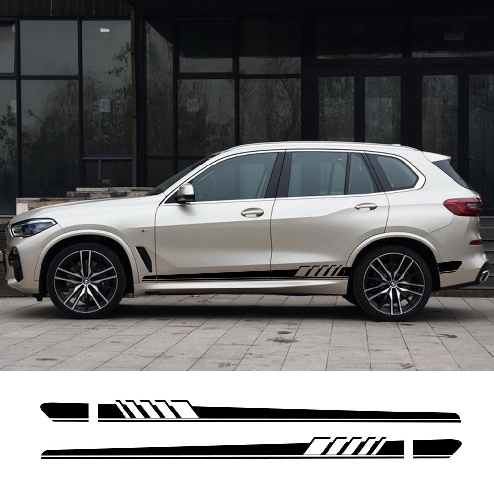 2 Pièces Voiture Autocollant Pour BMW X5 E70 E53 F15 X3 F25 E83 X6 F16 E71 X1 F48 E84 X2 X4 F26 X7 M2 F87 M3 E90 E92 M4 M5 M6 Accessoires De Voiture