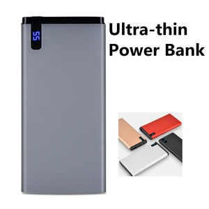 Power Bank 10000mAh Digital Display Ultra-thin Portable Power Bank Mobile Phone External Battery Charger for XiaomiHuawei iPhone