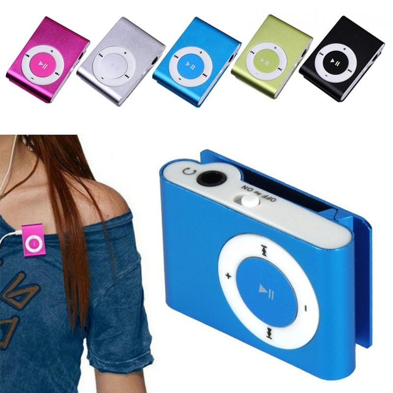 Mini USB speaker Metal Clip MP3 Player Mirror LCD Screen Support 32GB Micro SD TF Card Slot Digital