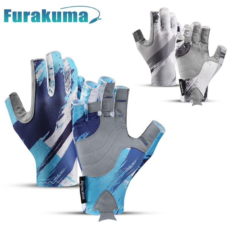 Furakuma Fishing Gloves SPF 50 Sun Men Hands Protection Gloves Breathable Outdoor Sportswear Gloves Carp Fishing Apparel Pesca