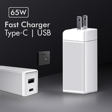 65W Ган зарядное устройство с функцией быстрой зарядки 4,0 Кабель с разъемом типа C USB настенное зарядное устройство с технологией QC 4,0 портативное устройство для быстрой зарядки для iPhone 12 для Xiaomi ноутбука