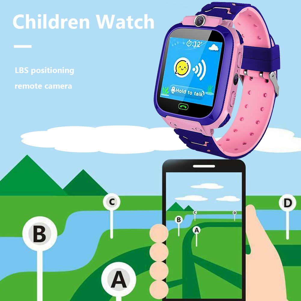 Tracker Smartwatch Watch SOS Smart Watch Lightweight Waterproof Waterproof Children Phone Q12 Kids Call Watches Smart