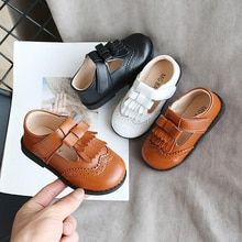 New Brand Fashion Girls' PU Leather Shoes Children's Casual Shoes Toddler Baby Little Girls British