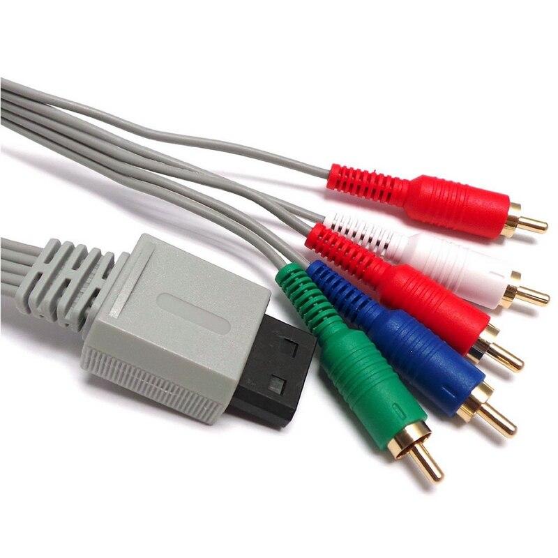 Cable de entrada de vídeo para WII WIIU, accesorio de 5 cabezales...