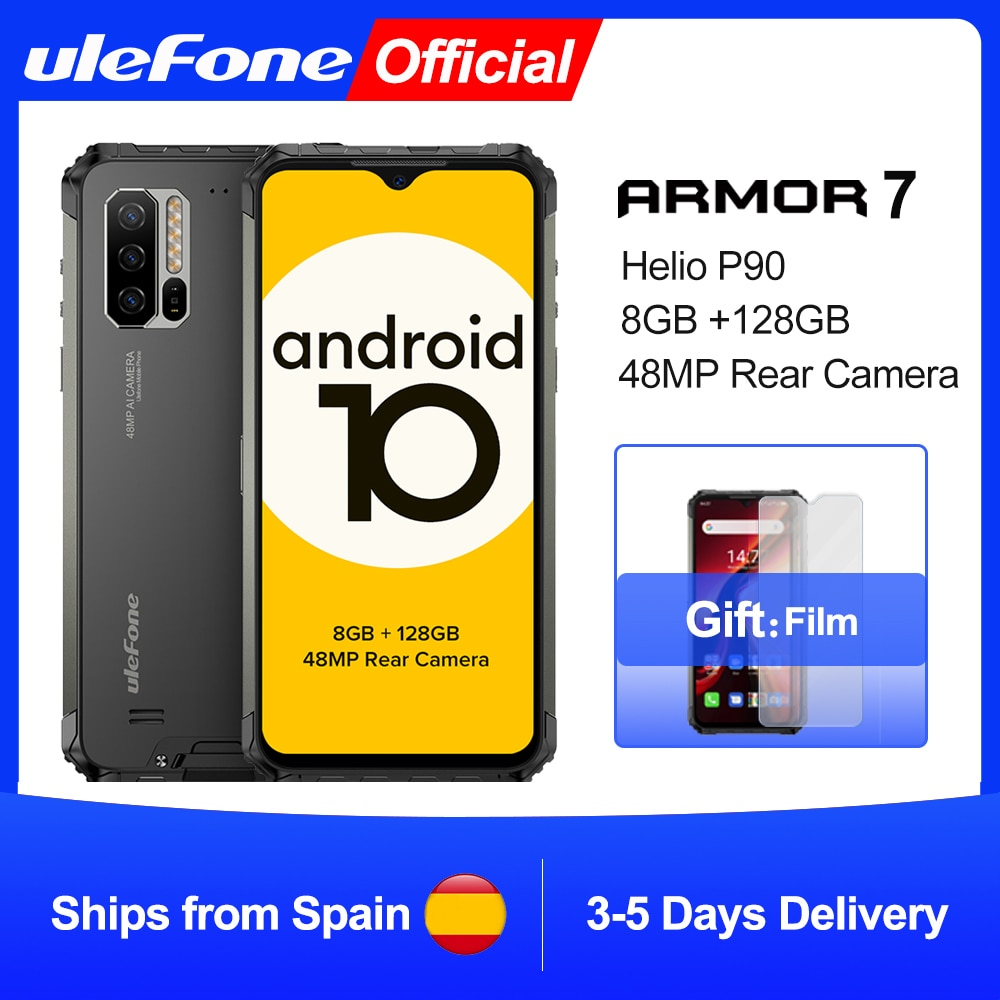 Ulefone Armor 7 Android 10 Rugged Mobile Phone  Helio P90 8GB+128GB 2.4G/5G WiFi  wireless charging