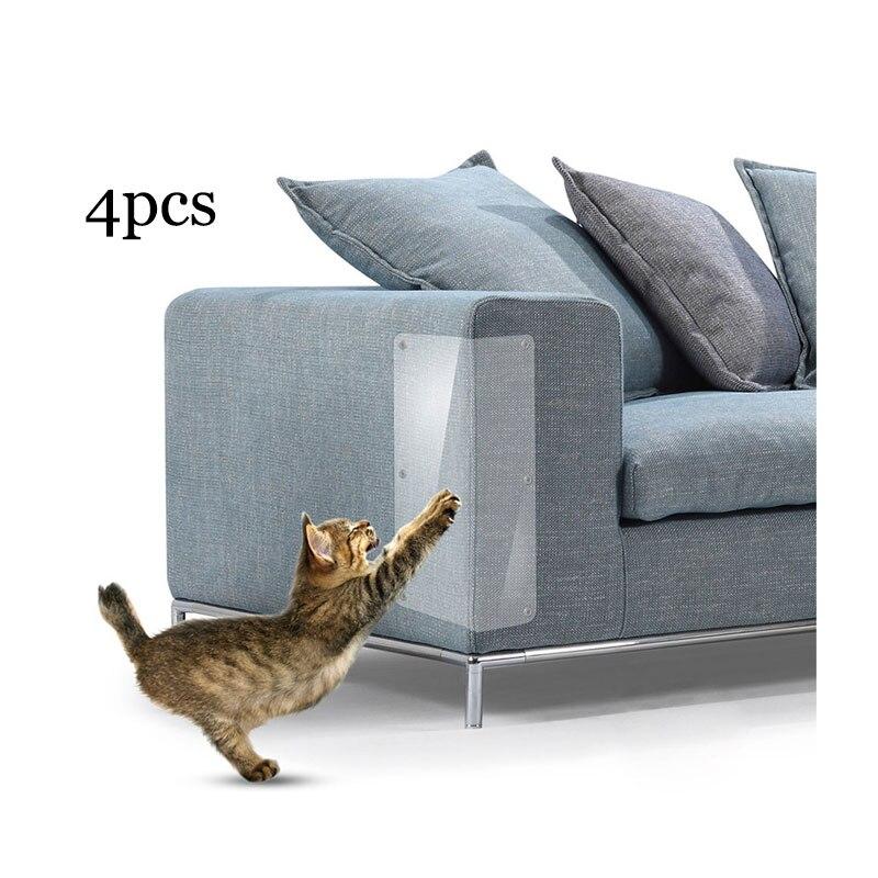 4 pçs gato coçar guarda tapete pet adesivo canto pvc gato scratcher brinquedo móveis sofá pata almofada garra pós protetor