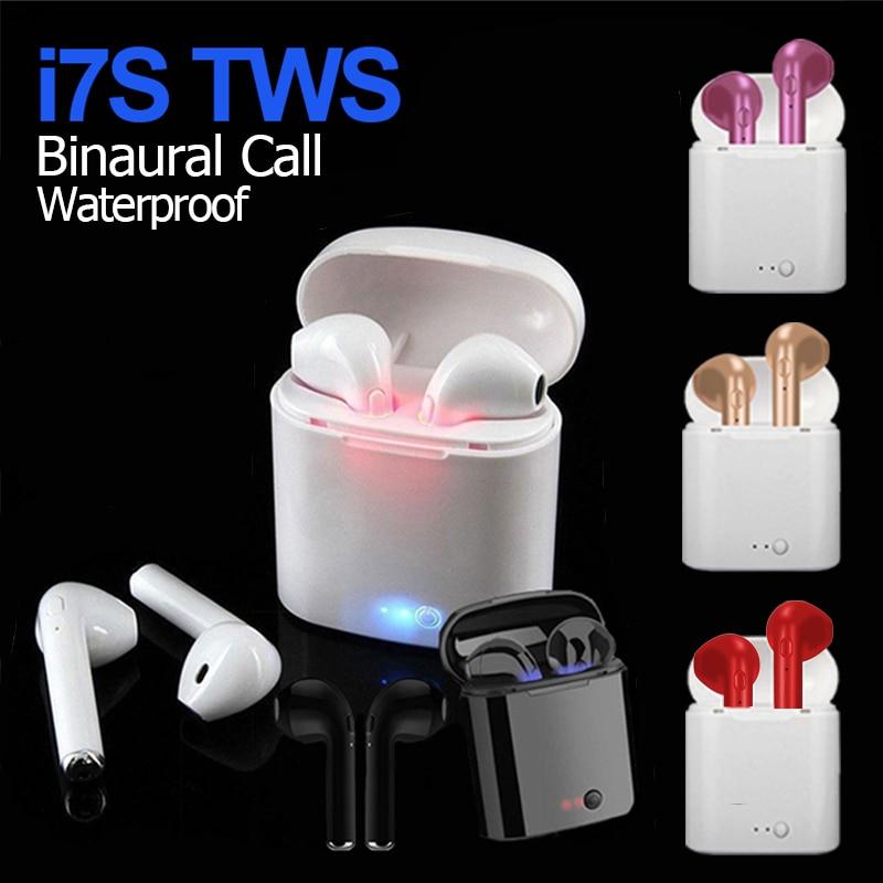 i7s TWS Wireless Headphone Bluetooth 5.0 Earphone Sport Earbuds Headset With Mic Power Bank For Smar