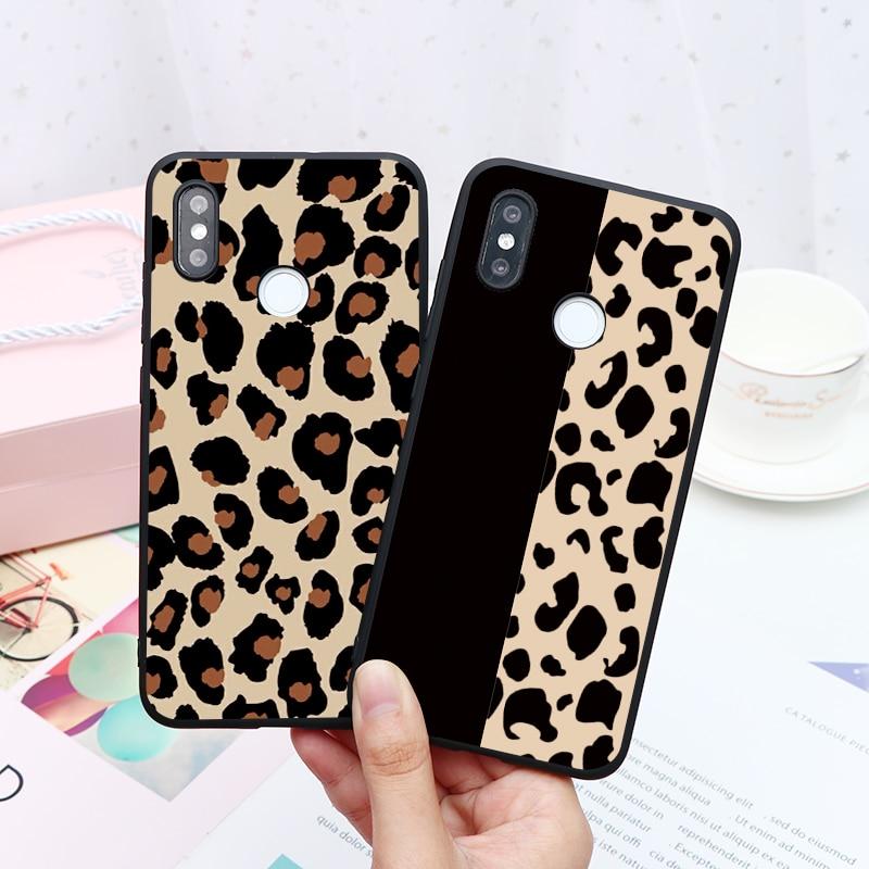 Funda mate de leopardo de lujo para Xiaomi Redmi Note 8 7 6 5 5A K20 6 Pro 7 7A 6A 5 Plus S2 Mi 9T CC9 CC9e 9 SE 8 Lite A3 A2 A1