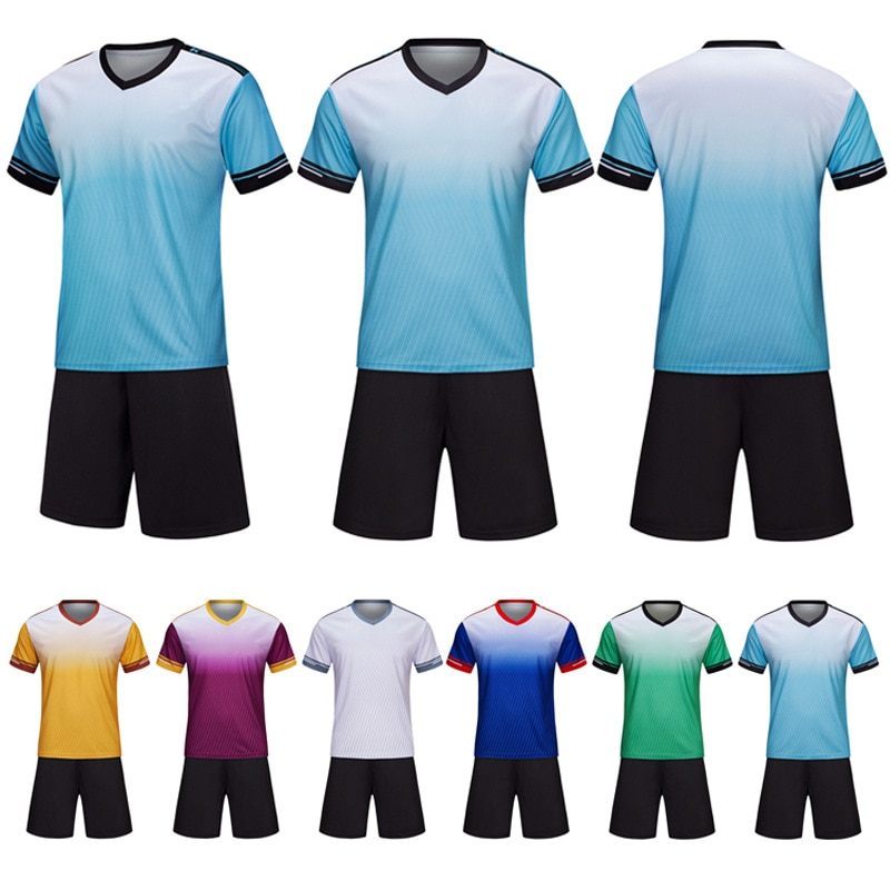 Adult/Children Soccer Jersey Set Mens Boys Football Suits Kids Survetement Sports Training Tracksuit