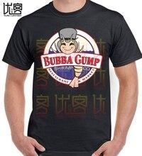 Camiseta Mannen 2017 moda Hoge Kwaliteit mannen Forrest Gump Hoed Bubba Gump camisetas Grappige Afdrukken Overhemd