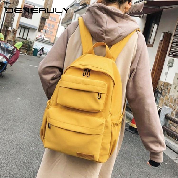 рюкзак для девочки Рюкзак женский рюкзак из водонепроницаемой ткани большой емкости женский рюкзак для ноутбука школьный рюкзак для подро...