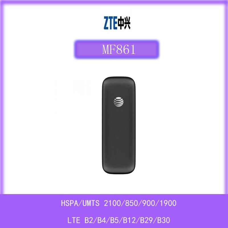 مقفلة at & t ZTE MF861 4G 300mbps Cat6 LTE سرعة مودم USB دعم 2CA الفرقة 4G العصابات 2/4/5/12/29/30 PK E8372H-517 E3372H-510