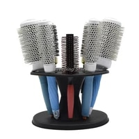 round hair tools stand salon brushes scissors hair styling tools storage