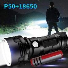 Sterke Lightled XHP50 Zaklamp Usb Opladen Waterdicht Licht Super Bright3lighting Modus Verstelbare Focus Zaklamp Фонарь # Gh