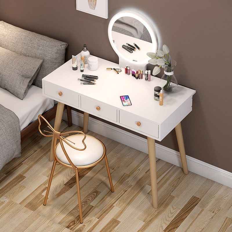 Dressing Table Bedroom Small Apartment Dressing Table Storage Cabinet Modern Minimalist Dressing Cabinet Dressing Table Vanity multifunction flip lid dresser nordic storage cabinet girl lady bedroom furniture modern small dressing table desk