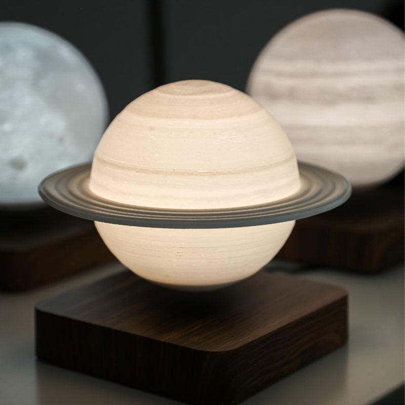 Creative 3D Magnetic Levitation Night Light Saturn Night Lamp Rotating Led Saturn Floating Lamp Home Decoration For Kid Gift enlarge
