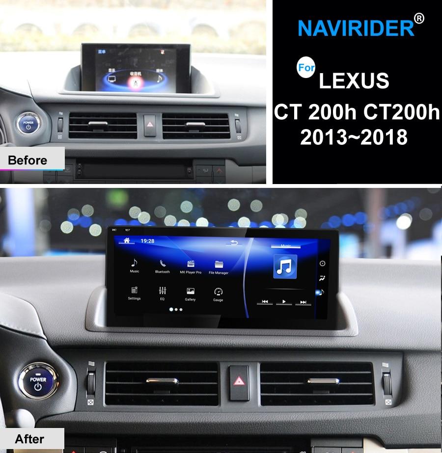 "NAVIRIDER Android 7,1 coche multimedia 10,25 ""para Lexus CT 200h CT200h 2013 ~ 2018 Carplay GPS Navi reproductor de Radio Estéreo WiFi SIN DVD"