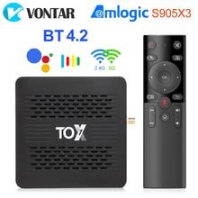 TOX1 Android TvBox 9 Smart Tv box 4GB 32GB tox 1 Amlogic S905X3 Dual Wifi 1000M BT4.2 4K Media Playe