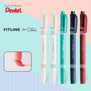Japan Pentel Limited SLW11L Retro Color Double-headed Highlighter FITLINE ForClena Marker Pen Student Hand Account Painting