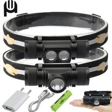 Mini Led Headlamp XM L2 Usb High Power Head Lamp 18650 Rechargeable Headlight Head Torch Head Lamps Hunting Hunting Head Light