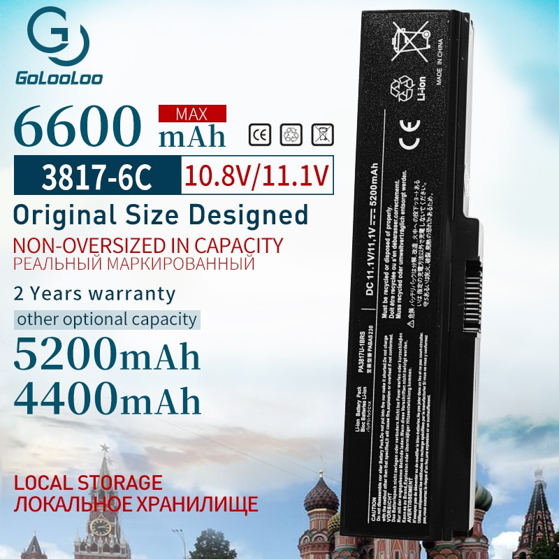 Golooloo Batterij Voor Toshiba Satellite L750 L650 Serie PA3816U-1BRS PA3817U PA3817U-1BAS PA3817U-1BRS PA3818U-1BRS PA3819U-1BRS