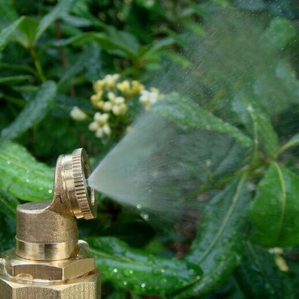 Bocal de pulverizador 1/2/3/4 furo bronze mangueira encaixe de tubulação jardim torneira gramado aspersão irrigação arruela spray bico névoa para resfriamento #45