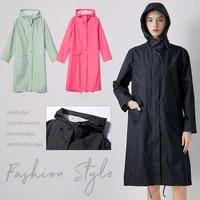 women new fashion adult windbreaker korean japanese european and american couple coat cloak long water proof raincoat