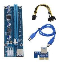 Riser Pci-E Pci E Express 1X à 16X Riser carte Usb 3.0 Pci-E Sata à 6Pin câble dalimentation pour Btc Bitcoin mineur minier