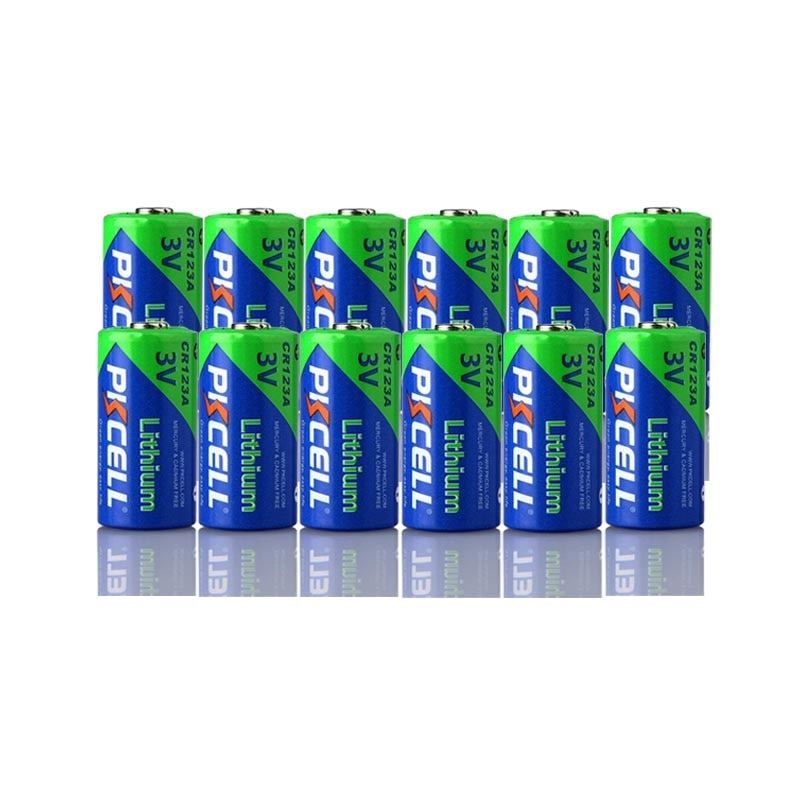 12Pcs Pkcell CR123A 3V Bateria De Lítio Li- MnO2 Igual CR123 123A CR17345 KL23a VL123A DL123A 5018LC EL123AP Para Lanterna Led