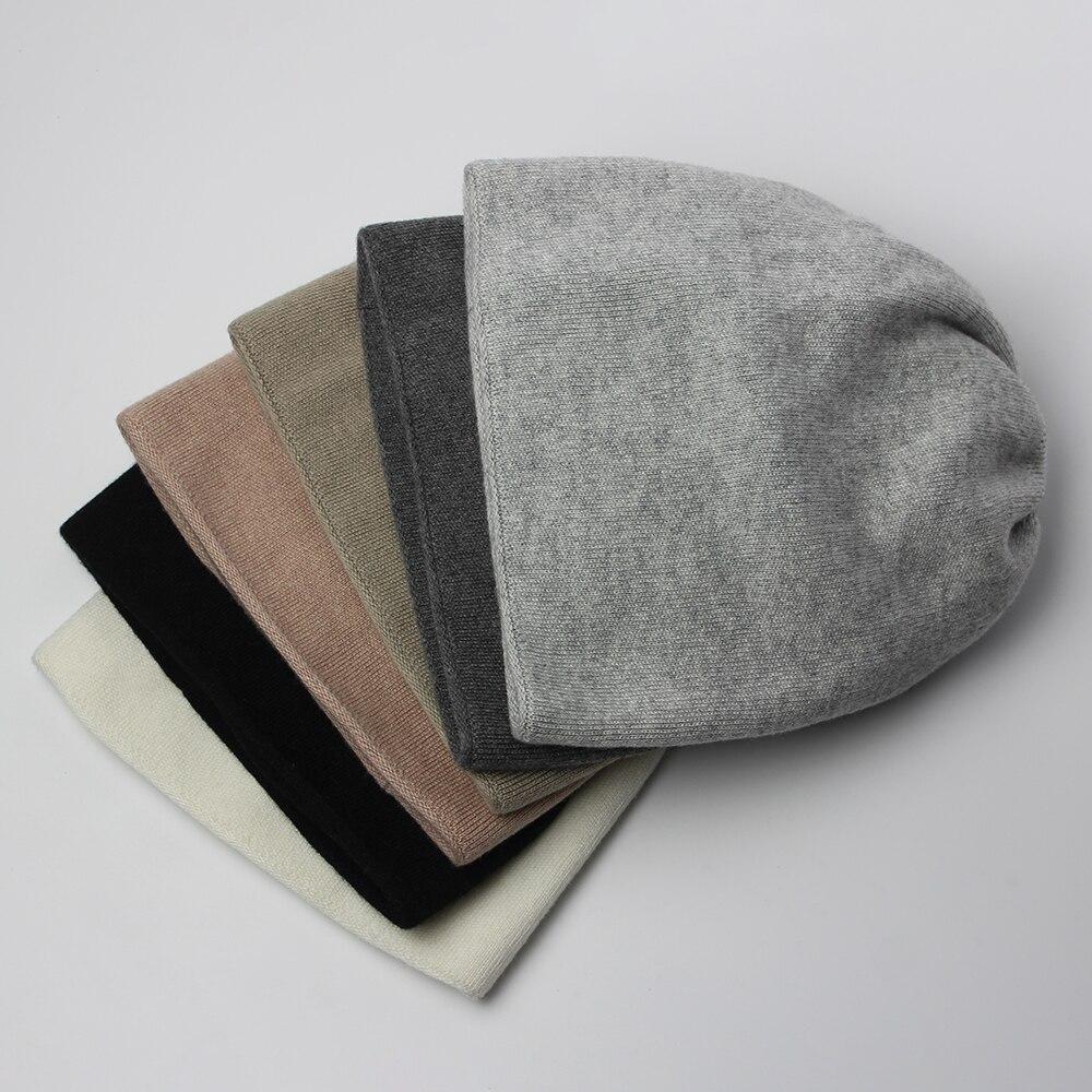 Мужские зимние однотонные шерстяные шапки, мужские шапки, теплые вязаные шапки в стиле High Street, черные, коричневые, белые однотонные двухслой...