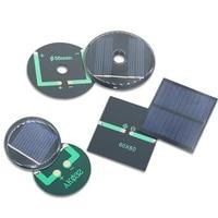 1pc 2v 3v 50ma 100ma 125ma monopolycrystalline solar panel solar cell battery module epoxy board pet power generation board