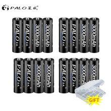 PALO 16 pièces batterie Rechargeable aa 1.2v nimh Batteries batterie Rechargeable 2A batteria pour batterie de lampe de poche Led en gros