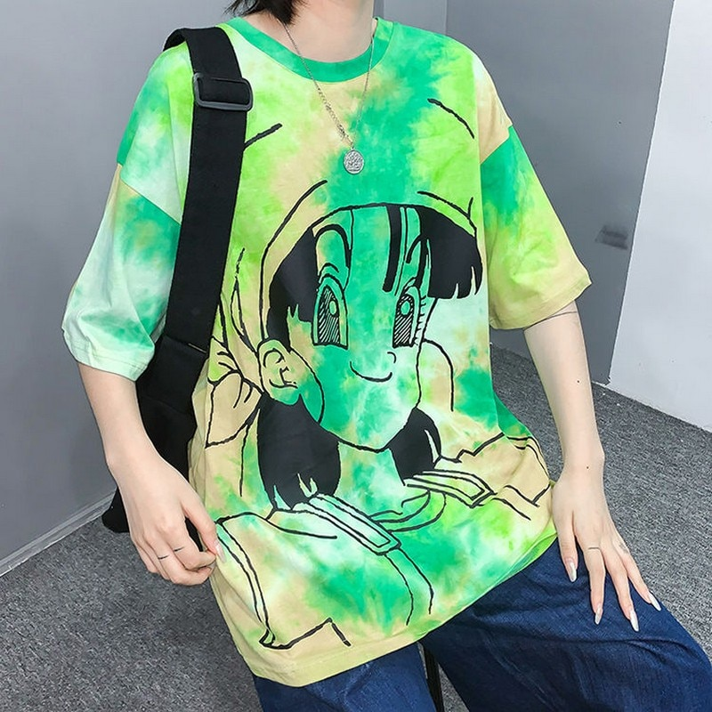 Nicemix harajuku camiseta feminina harajuku estilo coreano camisetas tshirt o pescoço moda punk feminino verão novo 2020 tie-dye roupas